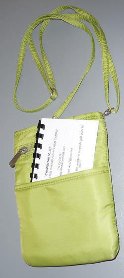 Easy Say booklet in small hand bag